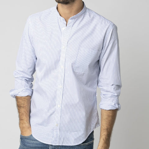 Ice Shirt: Blue Pinstripe