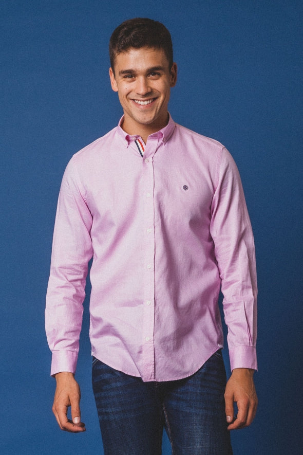 Oxford Comfort Fit Shirt L/S: Pink