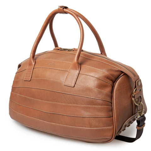 Leather Weekender Bag (Large): Cognac