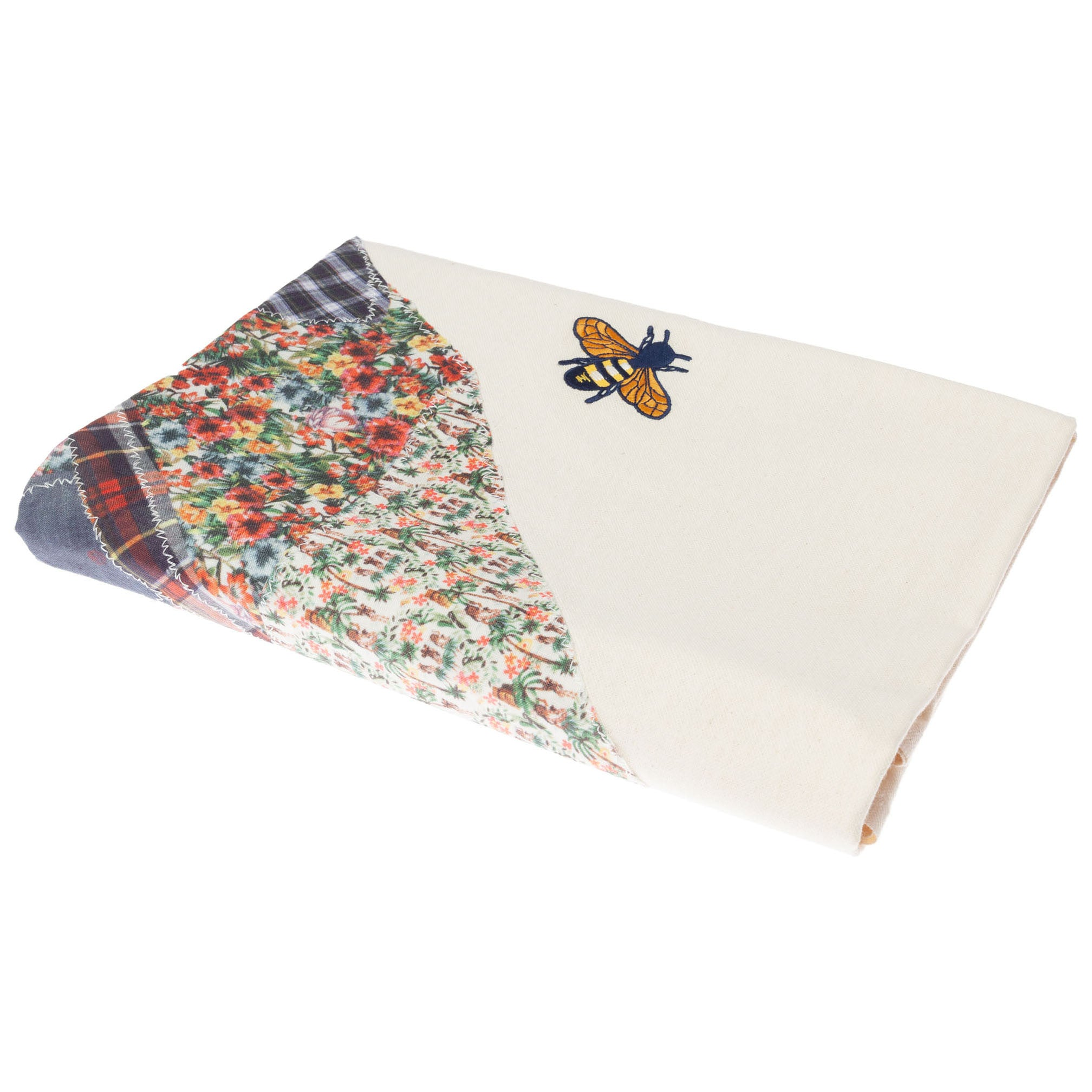 Patchwork Beach Towel: White