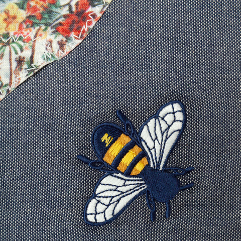 Bee Beach Towel: Indigo