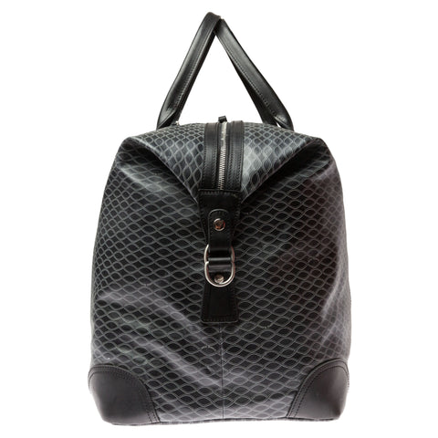 Vegan Leather Weekender (Large): Black Helix