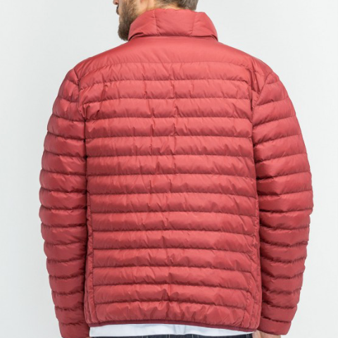 Ultra-Light Quilted Down-Alt Jacket: Burgundy