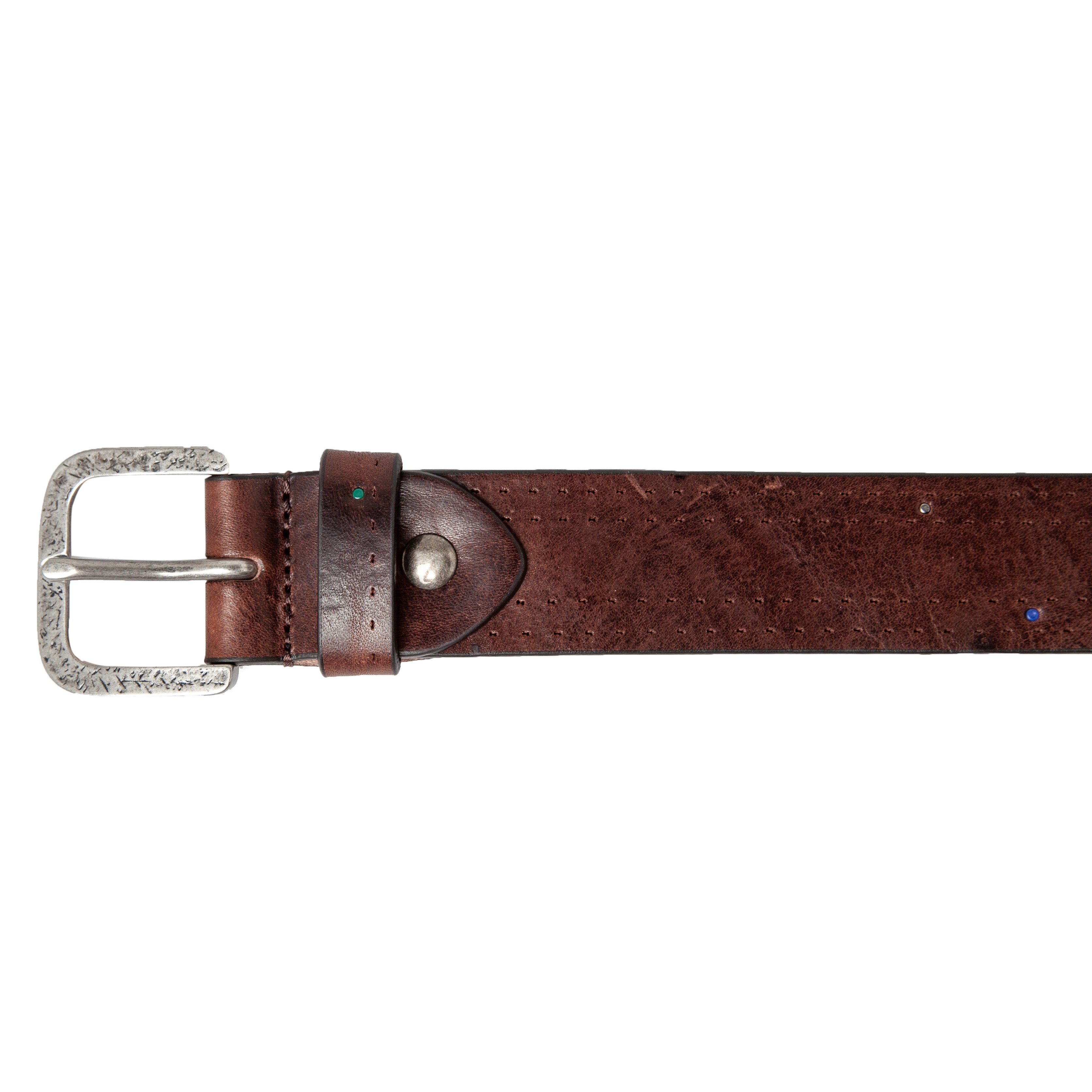 Leather Belt: Old Look Punched