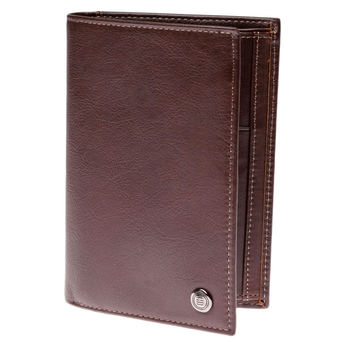 Campania Large Leather Wallet: Chocolate