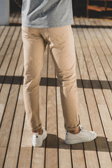 Stretch 5 Pocket 325 Pant: Beige