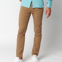Power Twist 5-Button Jeans: Hazelnut