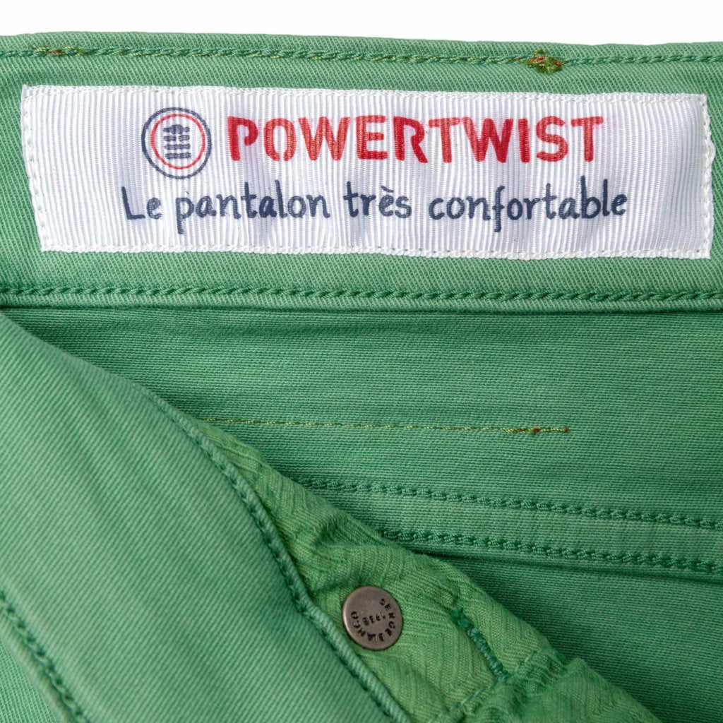 Power Twist 5-Button Jeans: Green