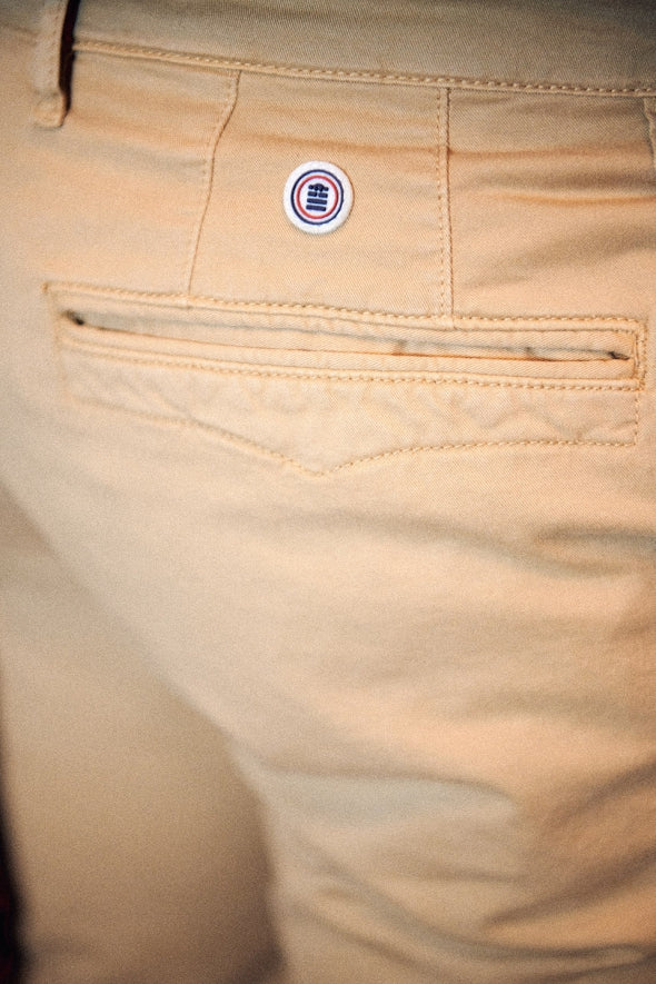 Cotton Chino Stretch Pant: Beige