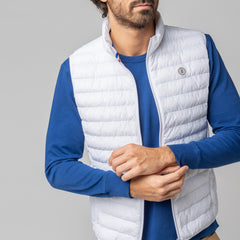 Quilted Down-Alt Vest: White