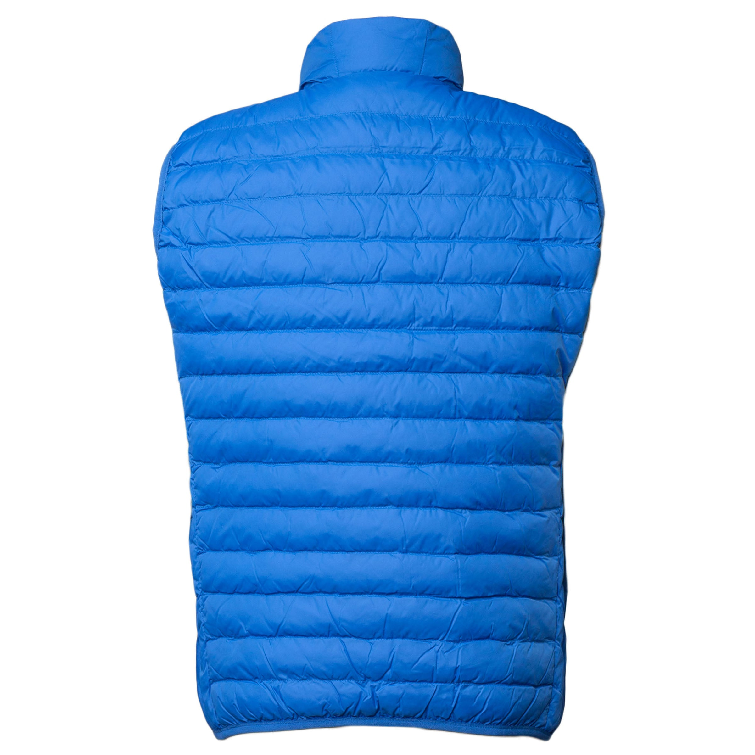 Quilted Down-Alt Vest: Turquoise