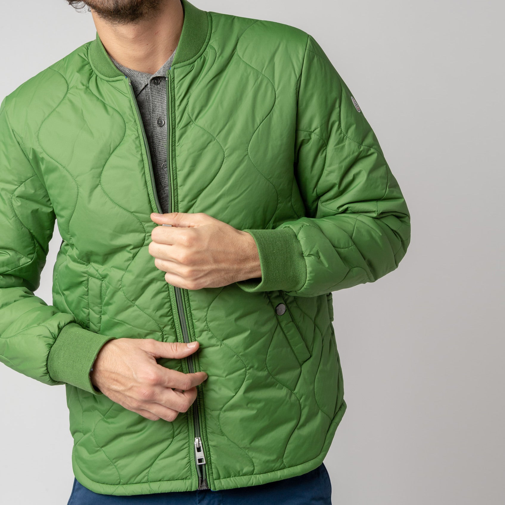 Paul Quilted Down-Alt Jacket: Vert