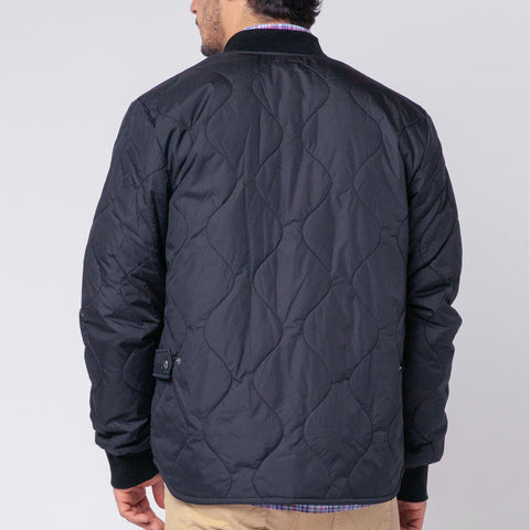 Paul Quilted Down-Alt Jacket: Indigo