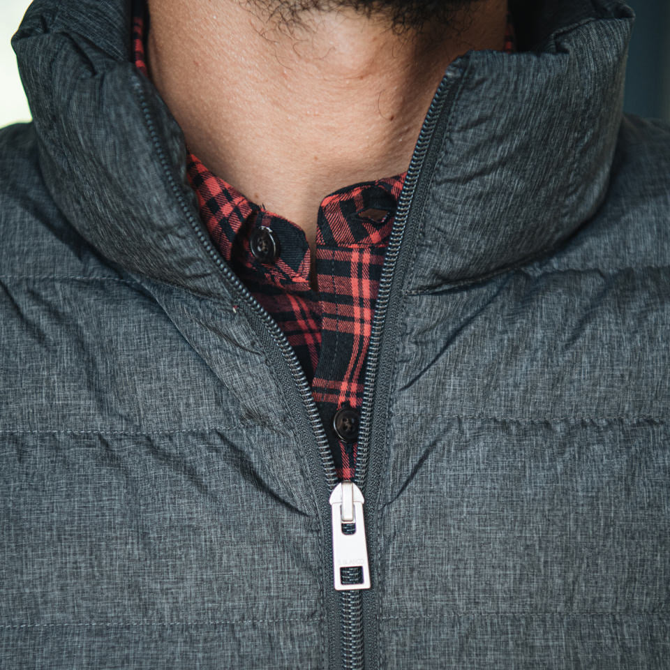 Matt Down-Alt Parka: Grey