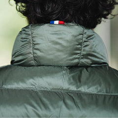 Matt Parka Vest: Military Green