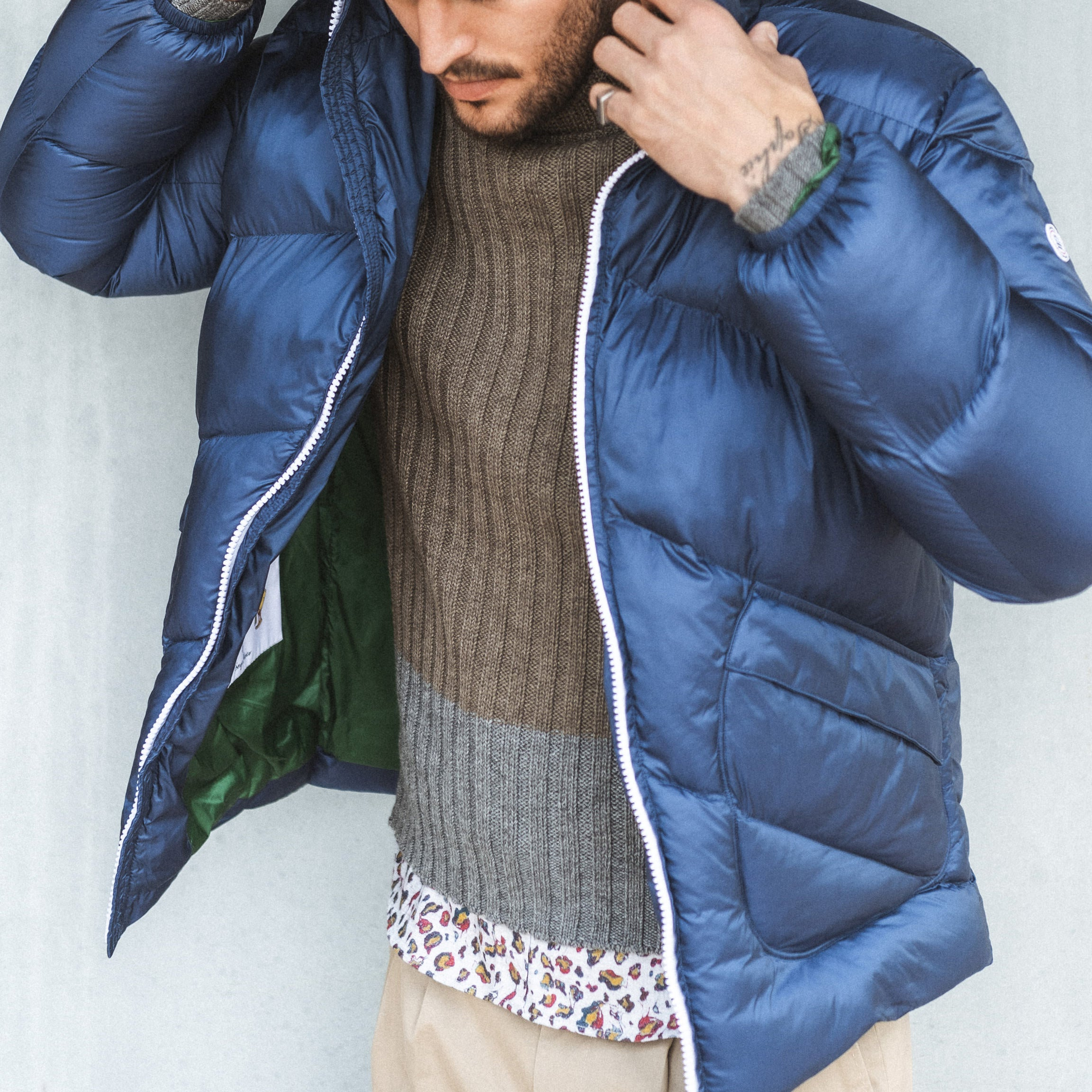 Florent Hooded Parka: Indigo