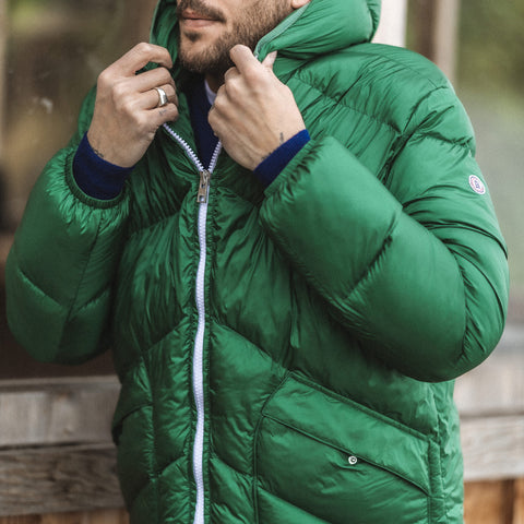 Florent Hooded Parka: Emerald