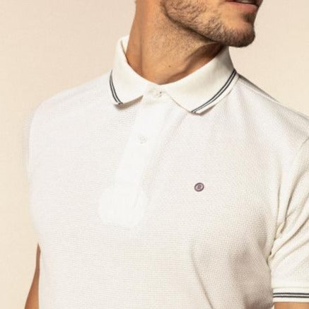 Honeycomb Polo S/S: Off White