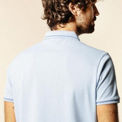 Contrasting Detail Polo S/S: Sky