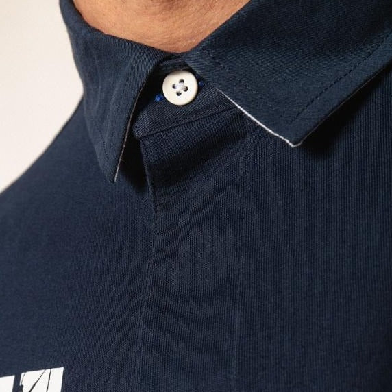 "Rugby Inspired Polo ""France"" S/S: Navy"