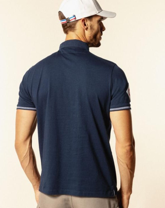 "Rugby Inspired Polo ""Scotland"" S/S: Navy"
