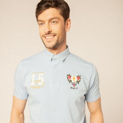 Rugby Inspired Polo S/S: Sky