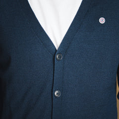 Buttoned Cardigan: Marine