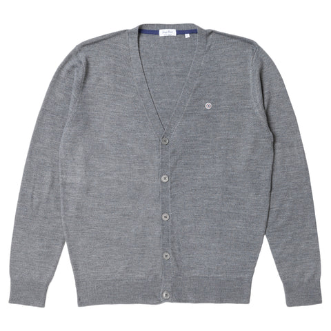 Buttoned Cardigan: Heather Grey