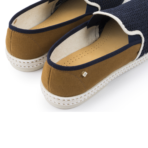 Pegase: Navy & Miel (Honey) Loafer