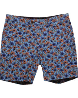 John Lux Floral Stem Short: Blue