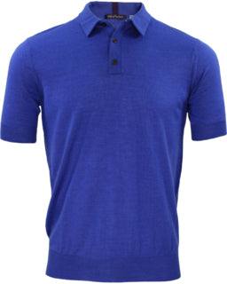 Phillip Lux Merino Polo: Blue