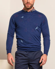 Clive Merino Sweater L/S: Navy