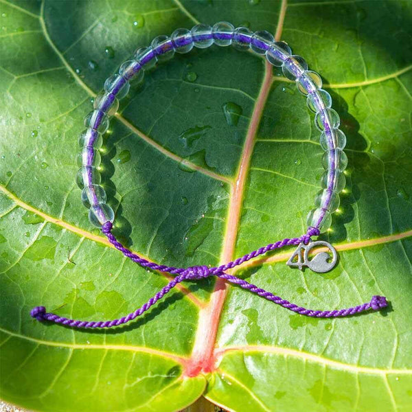 100% Recycled '4Ocean - Purple Hawaiian Monk Seal' Bracelet