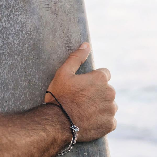100% Recycled '4Ocean Black - Shark' Bracelet. Bohemian Jewellery. Indie and Harper