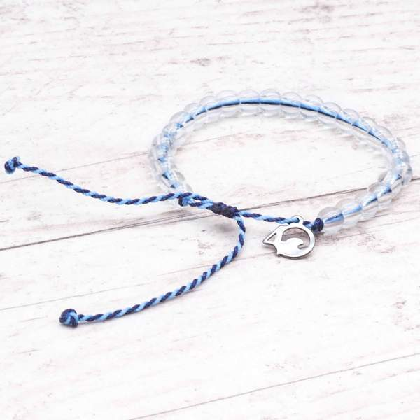 100% Recycled '4Ocean Blue - Whale' Bracelet. Bohemian Jewellery. Indie and Harper
