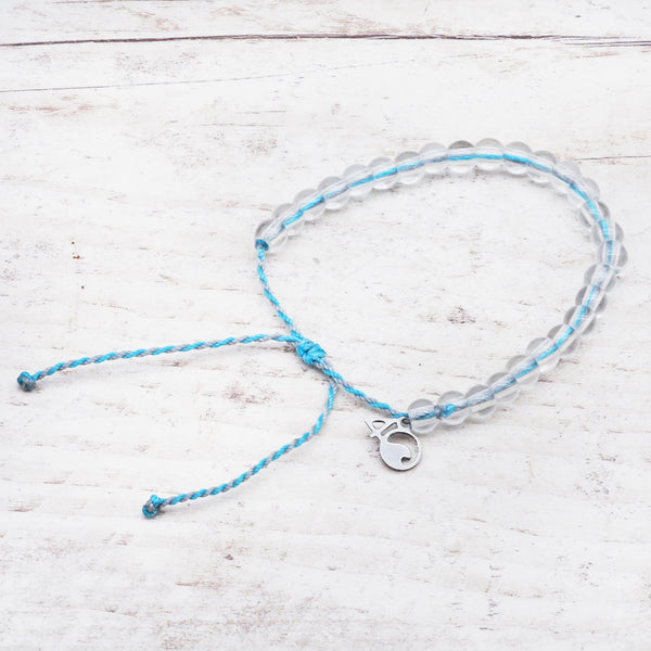 100% Recycled '4Ocean Light Blue/Grey - Porpoise' Bracelet. Bohemian Jewellery. Indie and Harper