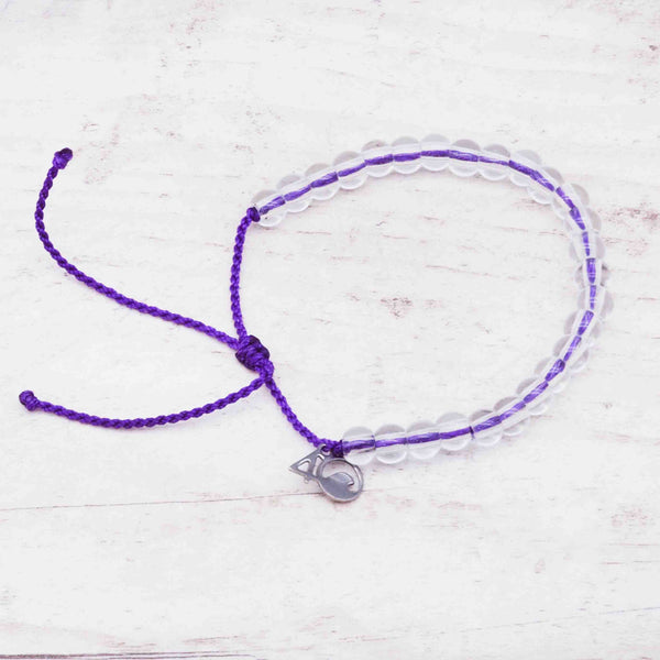 100% Recycled '4Ocean Purple - Hawaiian Monk Seal' Bracelet. Bohemian Jewellery. Indie and Harper