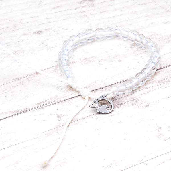 100% Recycled '4Ocean White - Polar Bear' Bracelet. Bohemian Jewellery. Indie and Harper