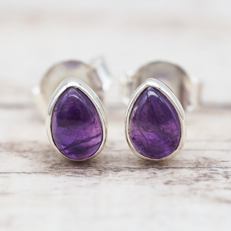 Amethyst Earrings. Bohemian Jewellery. Indie and Harper