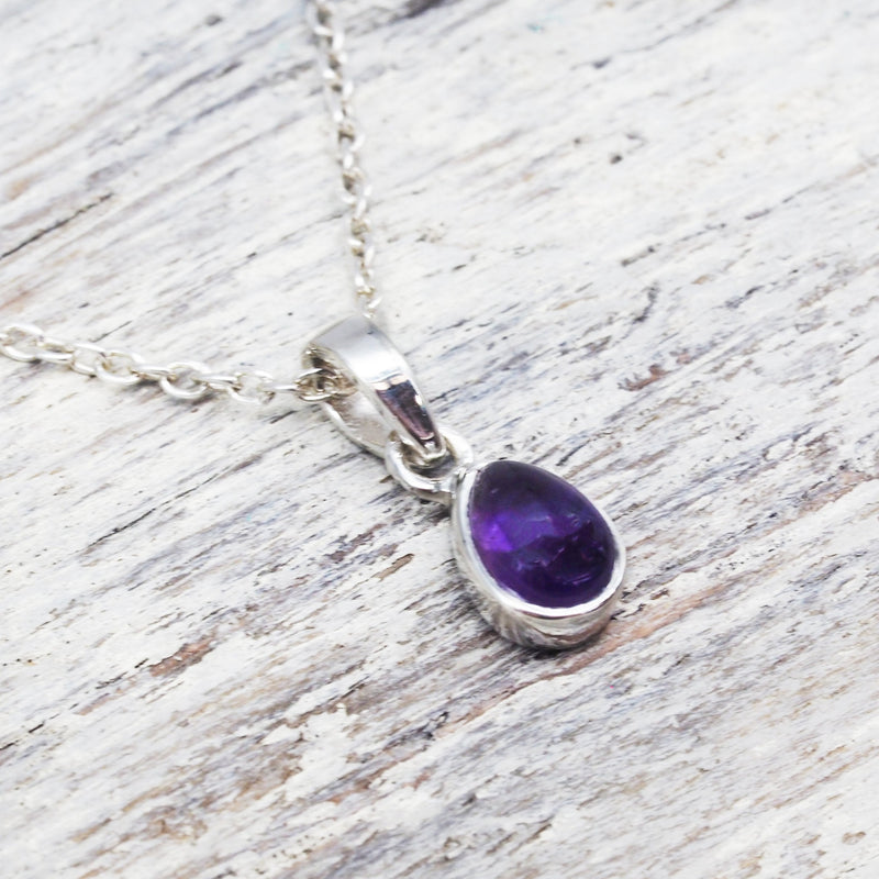 Amethyst Pendant Necklace. Bohemian Jewellery. Indie and Harper