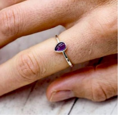 Amethyst Ring. Bohemian Jewellery. Indie and Harper