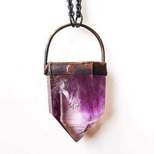Amethyst and Copper Necklace - Indie and Harper. Bohemian Gypsy Festival Jewellery. www.indieandharper.com