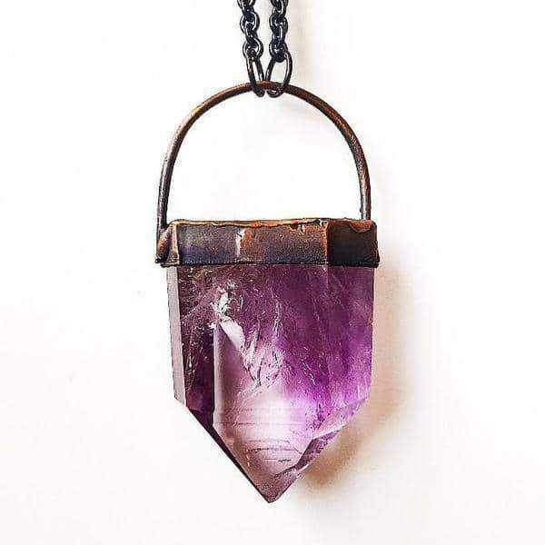 Amethyst and Copper Necklace. Bohemian Jewellery. Indie and Harper