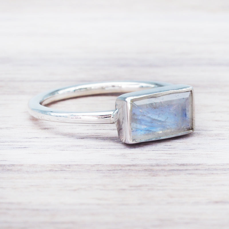 Amore Moonstone Ring. Bohemian Jewellery. Indie and Harper
