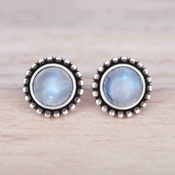 Angelic Moonstone Earrings. Bohemian Gypsy Festival Jewellery. Indie and Harper