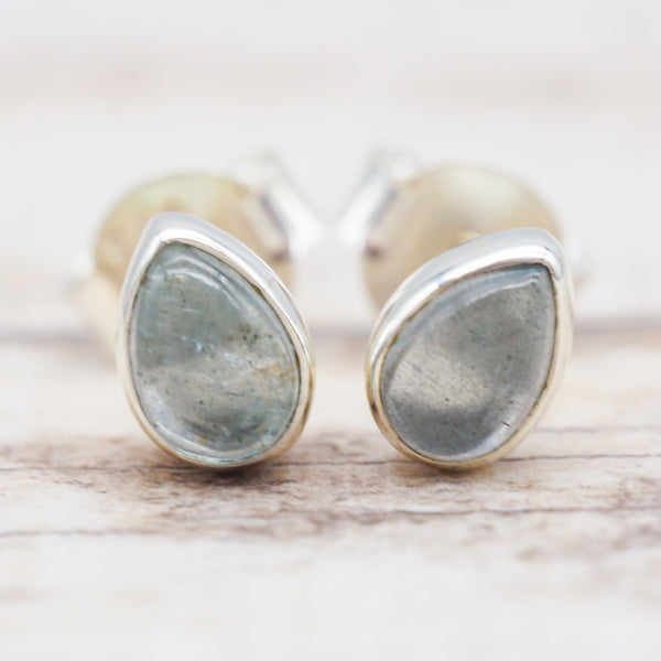 Aquamarine Earrings. Bohemian Jewellery. Indie and Harper