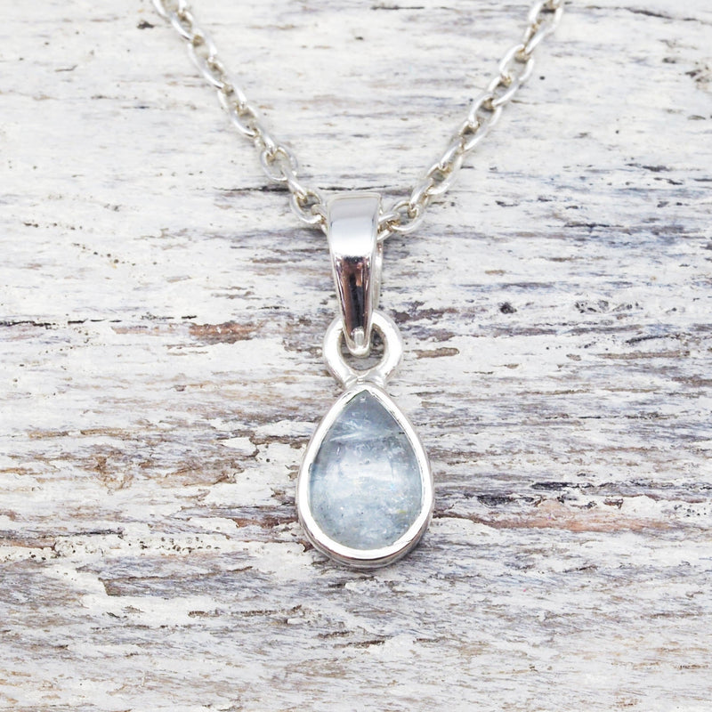 Aquamarine Pendant Necklace. Bohemian Jewellery. Indie and Harper