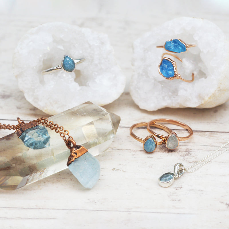 Aquamarine Ring. Bohemian Jewellery. Indie and Harper