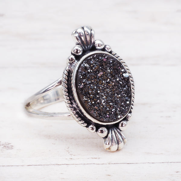 Aura Druzy Ring. Bohemian Jewellery. Indie and Harper