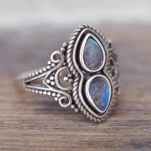 Blissful Labradorite Ring. Bohemian Jewellery. Indie and Harper